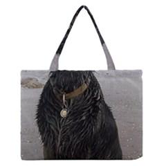 Flat Coated Retriever Muddy Wet Medium Zipper Tote Bag