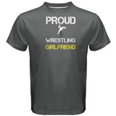 Grey Proud Wrestling Girlfriend Men s Cotton Tee