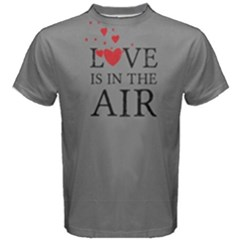 Grey Love Is In The Air Men s Cotton Tee