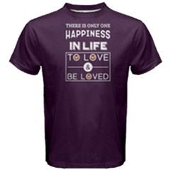 Purple happiness is to love and be loved Men s Cotton Tee