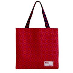 Colour Wave Grocery Tote Bag