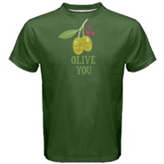 Green OLIVE you Men s Cotton Tee