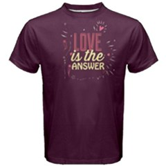 Purple Love Is In The Air Men s Cotton Tee