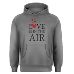 Grey Love Is In The Air Men s Pullover Hoodie