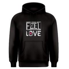 Black feel love Men s Pullover Hoodie