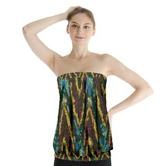 Painted waves                                                            Strapless Top