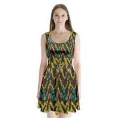 Painted waves                                        Split Back Mini Dress