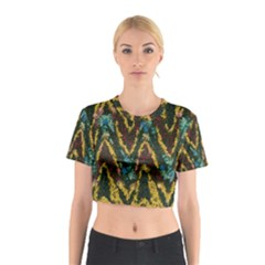 Painted waves                                                         Cotton Crop Top
