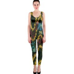 Painted waves                                                         OnePiece Catsuit