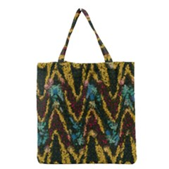 Painted waves                                                         Grocery Tote Bag