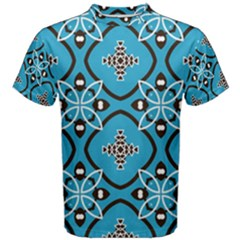 Ornamental flowers pattern                                                         Men s Cotton Tee