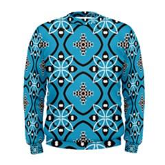 Ornamental flowers pattern                                                          Men s Sweatshirt