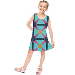 Pink stars pattern                               Kid s Tunic Dress