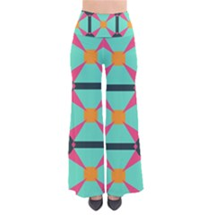 Pink stars pattern                                         Women s Chic Palazzo Pants