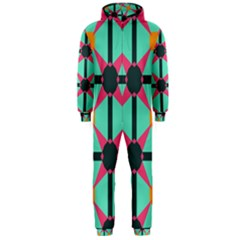 Pink stars pattern                                                          Hooded Jumpsuit (Men)