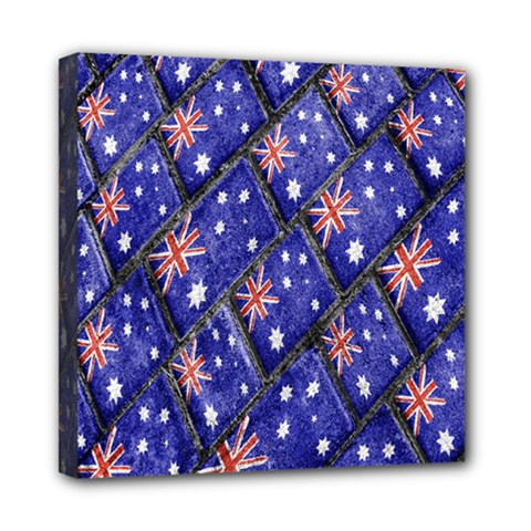 Australian Flag Urban Grunge Pattern Mini Canvas 8  x 8