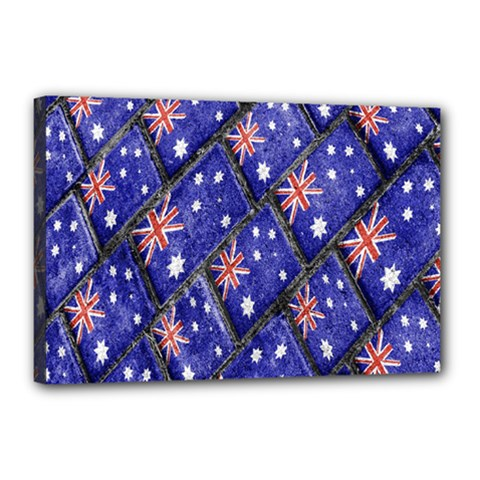 Australian Flag Urban Grunge Pattern Canvas 18  x 12