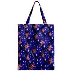 Australian Flag Urban Grunge Pattern Zipper Classic Tote Bag