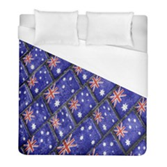 Australian Flag Urban Grunge Pattern Duvet Cover (Full/ Double Size)