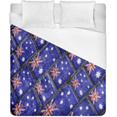 Australian Flag Urban Grunge Pattern Duvet Cover (California King Size)