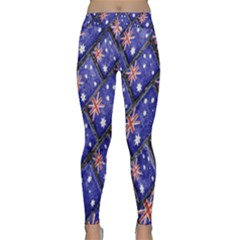 Australian Flag Urban Grunge Pattern Classic Yoga Leggings
