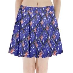 Australian Flag Urban Grunge Pattern Pleated Mini Skirt