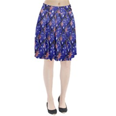 Australian Flag Urban Grunge Pattern Pleated Skirt