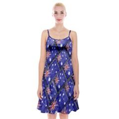 Australian Flag Urban Grunge Pattern Spaghetti Strap Velvet Dress