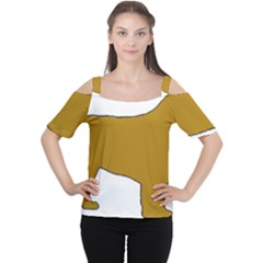 Leonberger Color Silo Women s Cutout Shoulder Tee