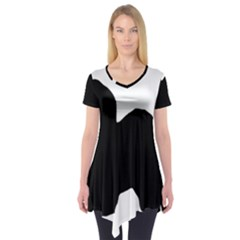 Old English Sheepdog Silo Black Short Sleeve Tunic