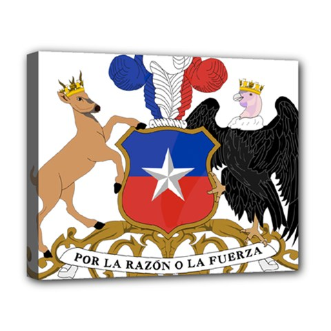 Coat of Arms of Chile Deluxe Canvas 20  x 16