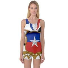 Coat of Arms of Chile One Piece Boyleg Swimsuit