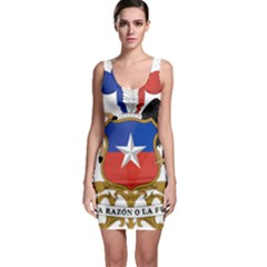 Coat of Arms of Chile Sleeveless Bodycon Dress