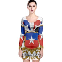 Coat of Arms of Chile Long Sleeve Bodycon Dress