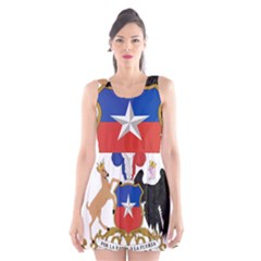 Coat of Arms of Chile Scoop Neck Skater Dress