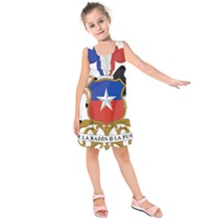 Coat of Arms of Chile Kids  Sleeveless Dress