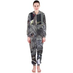 French Bulldog Brindle Hooded Jumpsuit (Ladies)