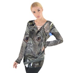 French Bulldog Brindle Women s Tie Up Tee