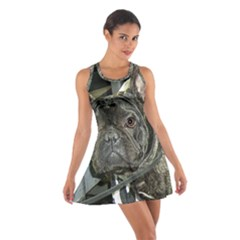 French Bulldog Brindle Cotton Racerback Dress