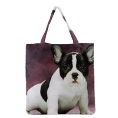 Brindle Pied French Bulldog Puppy Grocery Tote Bag