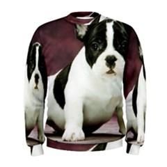 Brindle Pied French Bulldog Puppy Men s Sweatshirt
