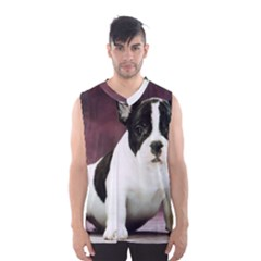 Brindle Pied French Bulldog Puppy Men s Basketball Tank Top