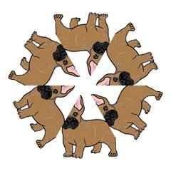 French Bulldog Tan Cartoon Mini Folding Umbrellas