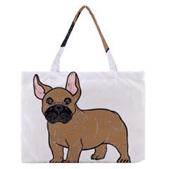 French Bulldog Tan Cartoon Medium Zipper Tote Bag