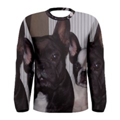 2 French Bulldogs Men s Long Sleeve Tee