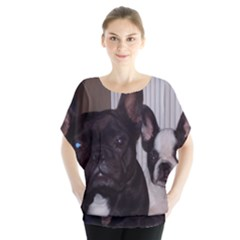 2 French Bulldogs Blouse