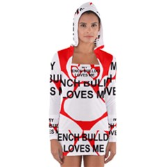 My French Bulldog Loves Me Women s Long Sleeve Hooded T-shirt