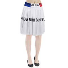 French Bulldog France Flag Pleated Skirt