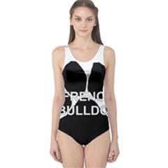 French Bulldog Name Mega Paw One Piece Swimsuit
