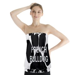 French Bulldog Name Mega Paw Strapless Top